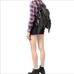 YSL Studded Fringe Festival Backpack Black